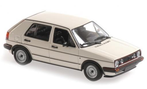 Volkswagen Golf 1/43 Maxichamps II GTI blanche 1985 5-portes miniature