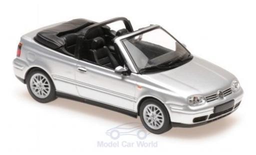 Volkswagen Golf 1/43 Maxichamps IV Cabriolet grise 1998 miniature