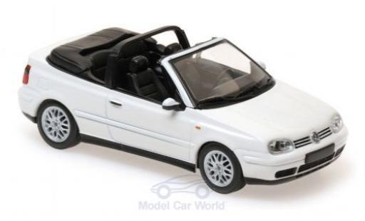 Volkswagen Golf 1/43 Maxichamps IV Cabriolet blanche 1998 miniature