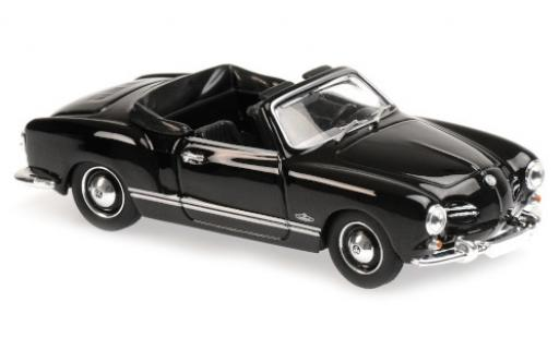 Volkswagen Karmann 1/43 Maxichamps Ghia Cabriolet (Typ 14) negro 1955 coche miniatura