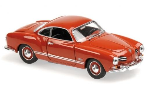 Volkswagen Karmann 1/43 Maxichamps Ghia Coupe rouge 1955 miniature