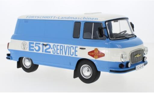 Barkas B 1000 1/18 MCG Kastenwagen bleue/blanche Fortschritt Service 1970 miniature