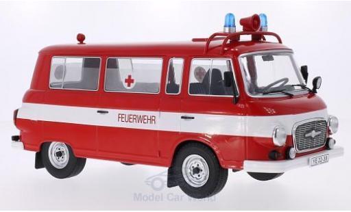 Barkas B 1000 1/18 MCG Kleinbus Feuerwehr 1965 Ambulanz Türen und Hauben geschlossen miniature
