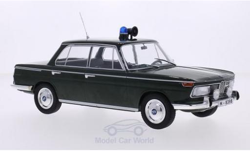 Bmw 2000 A 1/18 MCG BMW TI (Typ 120) dunkelgrün Polizei 1966 Türen und Hauben geschlossen diecast