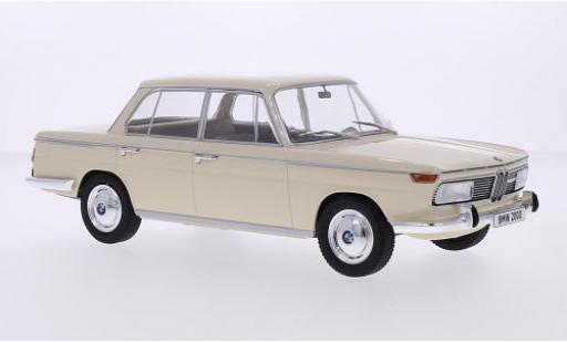 Bmw 2000 1/18 MCG tilux (Typ 120) beige 1966 les portes et capos fermé coche miniatura