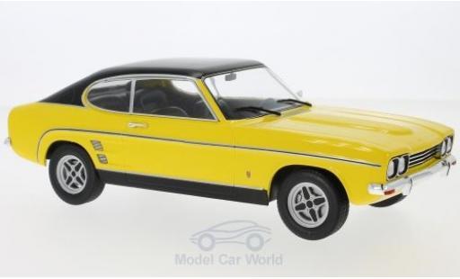 Ford Capri 1/18 MCG MKI 2000 GXL jaune/noire 1973 miniature
