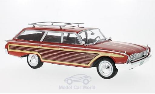 Ford Country Squire 1/18 MCG rouge/Holzoptik 1960 mit Dachreling miniature