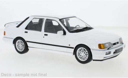 Ford Sierra 1/18 MCG Cosworth blanche 1988 miniature