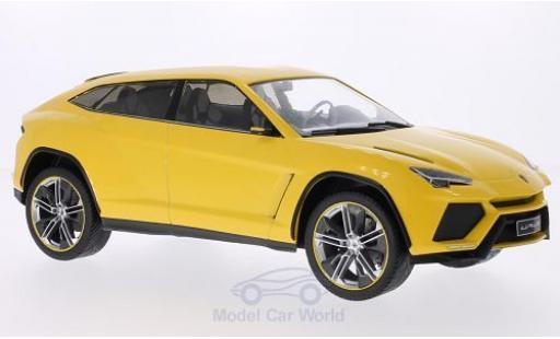 Lamborghini Urus 1/18 MCG metallic-giallo 2012 Türen und Hauben geschlossen miniatura