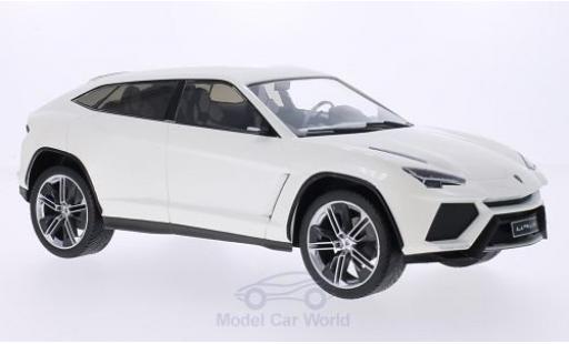 Lamborghini Urus 1/18 MCG metallise blanche 2012 Türen und Hauben geschlossen miniature