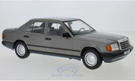 Mercedes 300 1/18 MCG D (W124) métallisé grise 1984 miniature