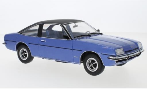 Opel Manta 1/18 MCG B Berlinetta metallise bleue/noire 1975 miniature