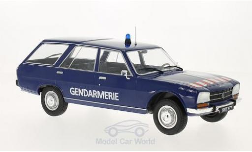Peugeot 504 Break 1/18 MCG Break blau Gendarmerie 1976 Türen und Hauben geschlossen