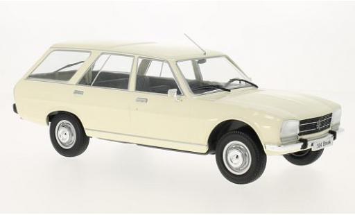 Peugeot 504 1/18 MCG Break blanche 1976 les portes et capos fermé miniature