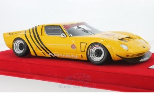 Lamborghini Miura 1/18 MCW Models LB Works yellow/black Chassis Ford GT40 N4 Liberty Walk diecast