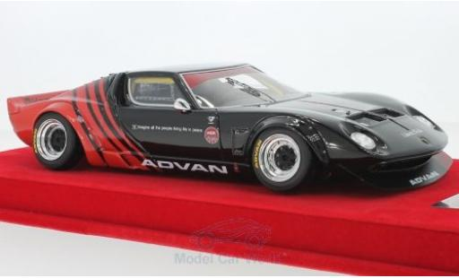 Lamborghini Miura 1/18 MCW Models LB Works black/red RHD Chassis Ford GT40 N4 Liberty Walk diecast
