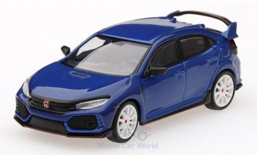Honda Civic 1/64 Mini GT Type R (FK8) metallic blue Modulo Kit diecast