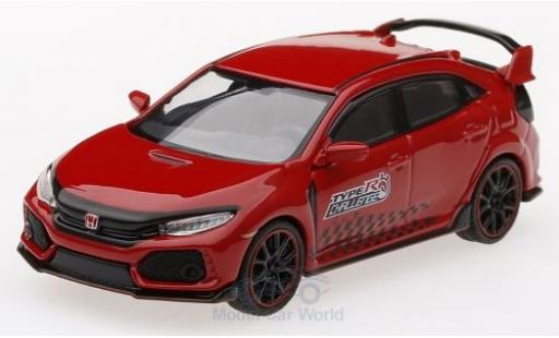 Honda Civic 1/64 Mini GT Type R (FK8) rojo 2018 Time Attack miniatura