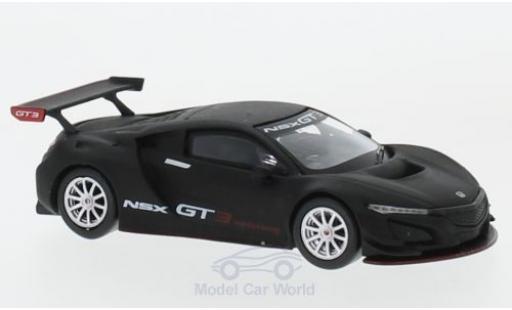 Honda NSX 1/64 Mini GT GT3 matt-black Presentation diecast model cars