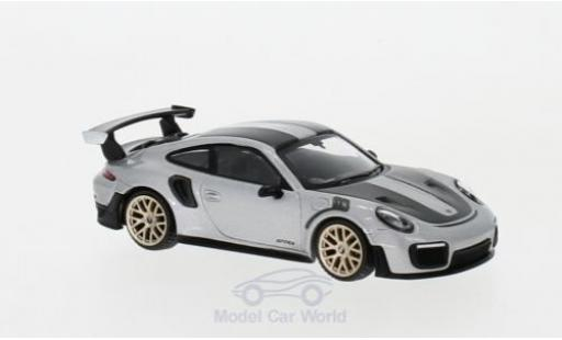 Porsche 991 GT2 RS 1/64 Mini GT 911 ( II) grise RHD Weissach Package miniature