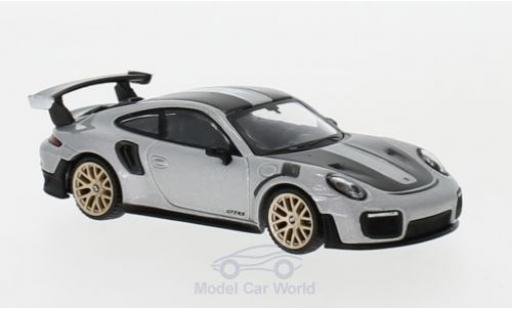Porsche 911 1/64 Mini GT (991 II) GT2 RS grise Weissach Package miniature