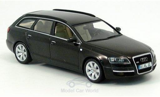 Audi A6 1/43 Minichamps Avant nero 2004 ohne Vitrine miniatura