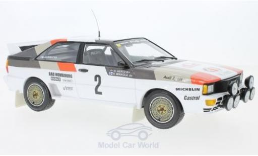 Audi Quattro 1/18 Minichamps quattro A1 No.2 Sport Rallye WM Rallye Monte Carlo 1983 H.Mikkola/A.Hertz miniature