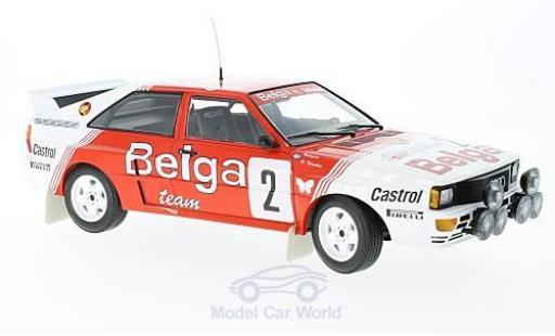 Audi Quattro 1/18 Minichamps quattro A2 No.2 Belga Team Rallye Boucles de Spa 1985 B.Waldegard/H.Thorszelius diecast
