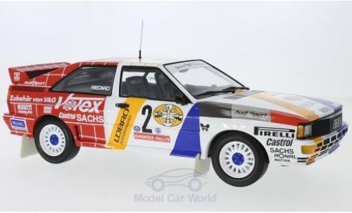 Audi Quattro 1/18 Minichamps quattro A2 No.2 Schmidt Motorsport Votex Rallye DM Rallye Hunsrück 1984 H.Demuth/W.Lux miniature