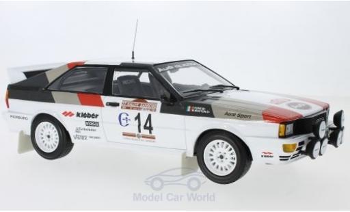 Audi Quattro 1/18 Minichamps quattro No.14 Sport Rallye WM Rallye San Remo 1981 M.Mouton/F.Pons miniature