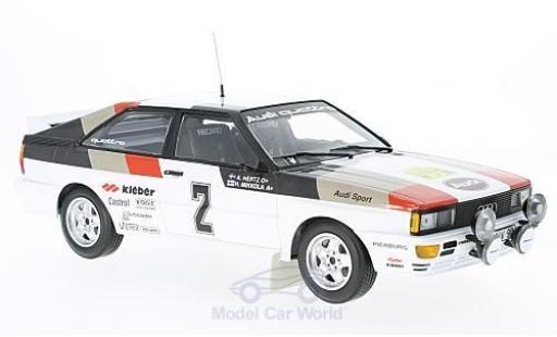 Audi Quattro 1/18 Minichamps quattro No.2 Sport Rallye WM Rallye Schweden 1981 H.Mikkola/A.Hertz diecast