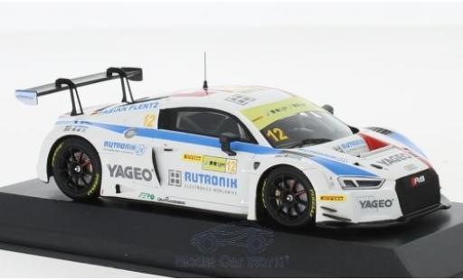 Audi R8 1/43 Minichamps LMS No.12 HCB-Rutronik-Racing Fia GT World Cup GT Cup Macau 2017 F.Plentz diecast model cars