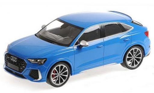 Audi RS Q3 1/18 Minichamps Sportback (F3) blue 2019 diecast model cars