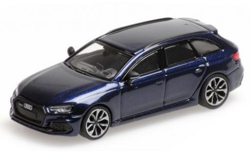Audi RS4 1/87 Minichamps Avant (B9) metallise bleue 2018 miniature