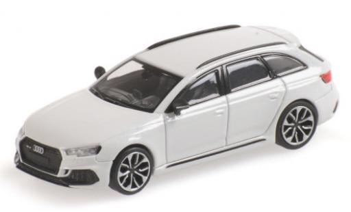 Audi RS4 1/87 Minichamps Avant (B9) metallise blanche 2018 miniature