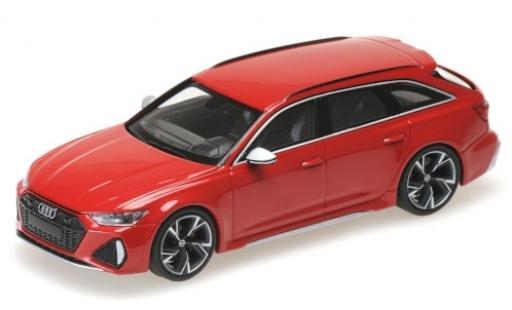 Audi RS6 1/43 Minichamps Avant (C8) metallise rouge 2019 miniature