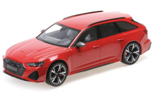 Audi RS6 1/18 Minichamps Avant metallise rouge 2019 miniature