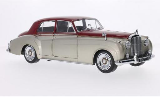 Bentley S2 1/18 Minichamps metallise beige/rouge RHD 1960 miniature