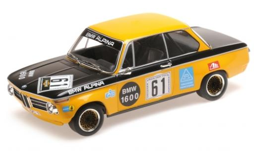 Bmw 1600 1/18 Minichamps -2 No.61 -Alpina 6h Nürburgring 1970 R.Herzog/N.Lauda diecast model cars