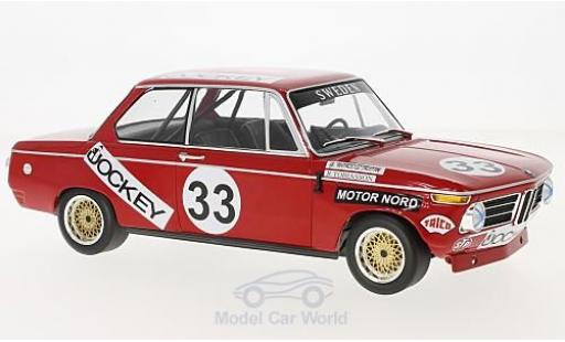 Bmw 2002 1/18 Minichamps No.33 Jockey Racing 6h Nürburgring 1972 R.Tobiasson/G.Nordström miniature