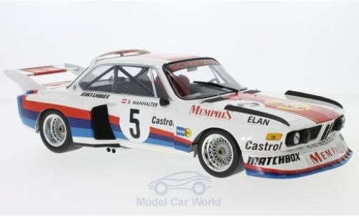 Bmw 3.5 1/18 Minichamps BMW CSL No.5 Schnitzer Memphis Havirov International 1977 S.Manhalter diecast