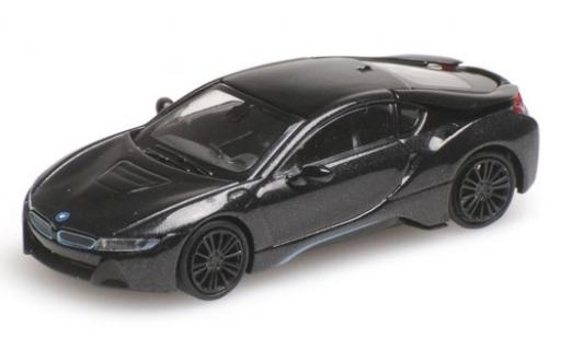 Bmw i8 1/87 Minichamps Coupe metallise anthrazit 2015 modellautos
