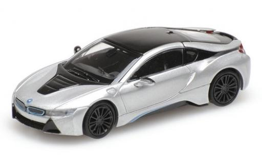 Bmw i8 1/87 Minichamps Coupe grey 2015 diecast model cars