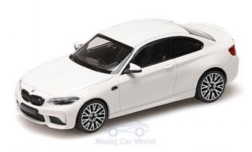 Bmw M2 1/43 Minichamps Competition blanche 2019 miniature