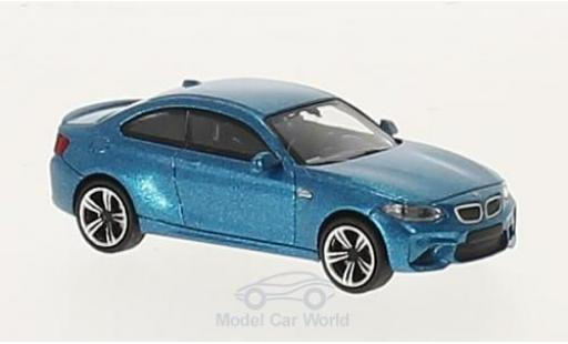 Bmw M2 1/87 Minichamps metallise bleue 2016 miniature