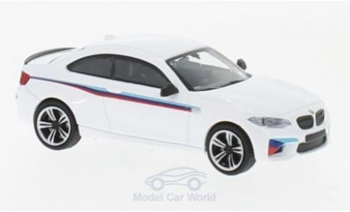 Bmw M2 1/87 Minichamps white 2016 Presentation diecast model cars