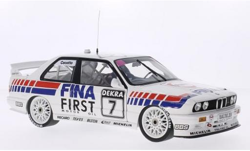 Bmw M3 1/18 Minichamps (E30) DTM No.7 Team FINA- Fina DTM Brünn 1992 J.Cecotto miniature