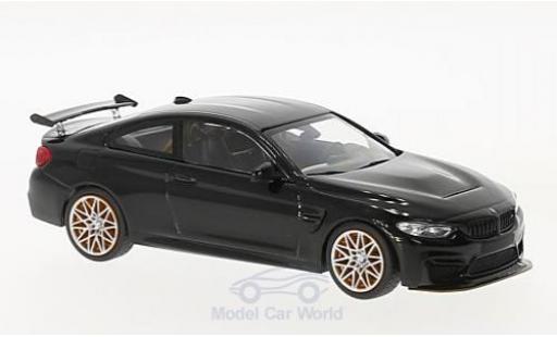 Bmw M4 1/43 Minichamps BMW (F82) GTS metallic-black 2016 mit orangen Felgen diecast
