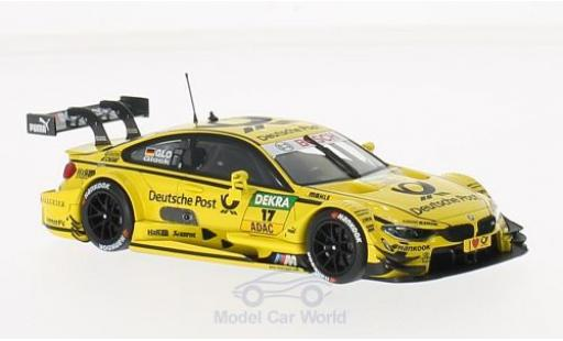 Bmw M4 1/43 Minichamps (F82) No.17 Team MTEK Deutsche Post DTM 2014 T.Glock miniature