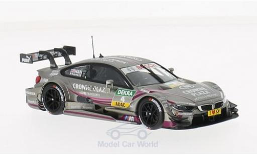 Bmw M4 1/43 Minichamps (F82) No.4 Team RBM Crowne Plaza DTM 2014 J.Hand miniature